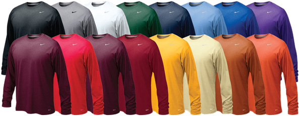 34b7f7e8d9c nike long sleeve performance t-shirts
